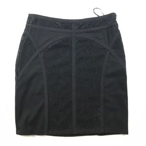 XS Free People Floral Lace Mini Skirt Black