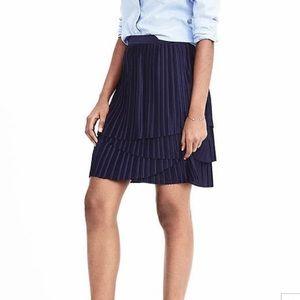 Banana Republic asymmetrical pleated skirt