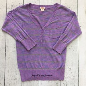 Sweaters - Mossimo purple heathered cotton sweater