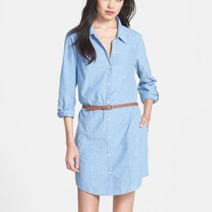 Joie 'Tarellia' Beltes Button Down Shirt Dress