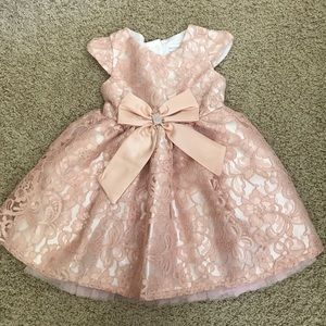 Sweet Heart Rose Other - Peach lace formal fully lined dress 4