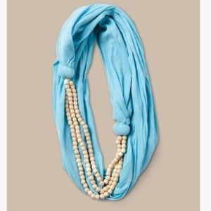 Alternative Apparel Accessories - Alternative Apparel Blue Beaded Infinity Scarf