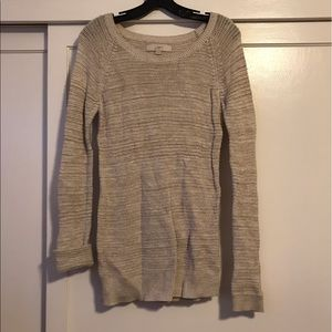 LOFT Cream Sweater (Size S)