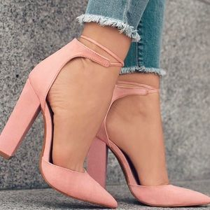 Shoes - Blush pointy single sole pump heel toe 💗💗