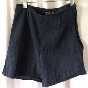 Zara Linen High Waisted Shorts