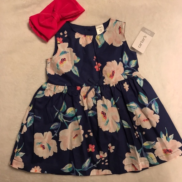 Carter s NWT 12 month baby girl flower dress from Maryam