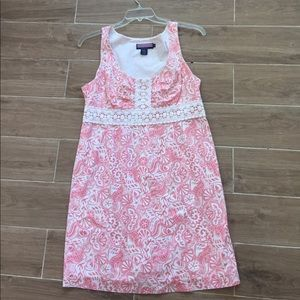 Vineyard Vines Pink & White Dress