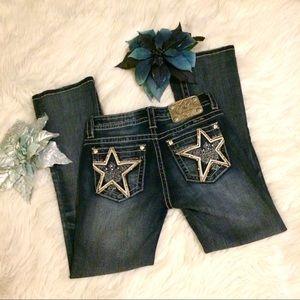 Miss Me Star Studded Phoenix Bootcut Jeans