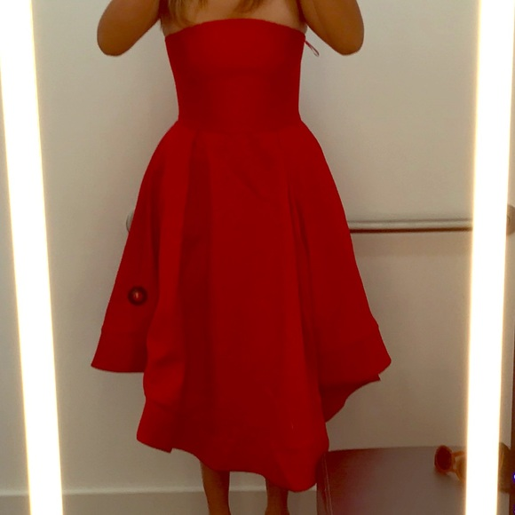 288d6fc6dfb0 Bloomingdale's Dresses | A Cherry Red Cocktail Dress Whidden Pockets ...