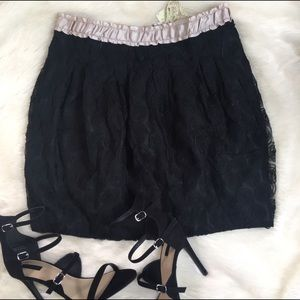 Dresses & Skirts - Black Lace Skirt