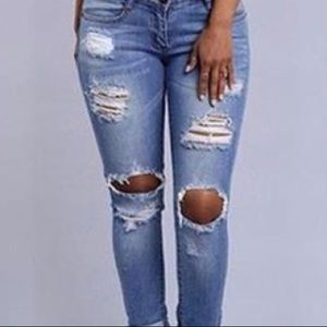 Denim - New! Destroyed Jeans with Soft and stretchy