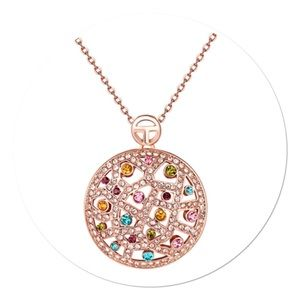 Rose Gold Pendant with Swarovski Crystals