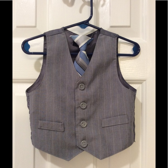 50 other toddler boys vest and clip on tie from