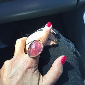 Faux amethyst ring