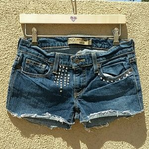 Old Navy Shorts - OLD NAVY BLUE SHORTS HAND UPCYCLED STUDDED SZ 2