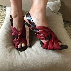 L.A.M.B. Shoes - L.A.M.B. Woven Heel Sandal