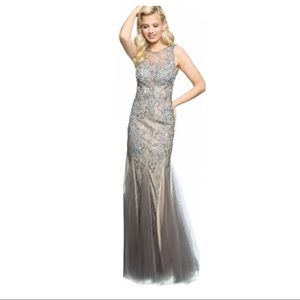 Jovani Dresses & Skirts - Jovani silver grey gown