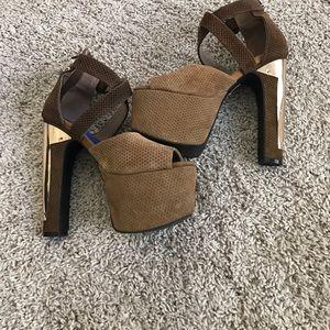 Jeffrey Campbell Platform 2 toned heels