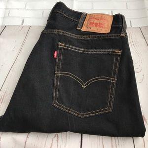 Levi's Other - 514 Levi 38x32 Slim Straight Dark Blue Jeans