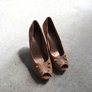 C.I. Castro Shoes - Nude heels!