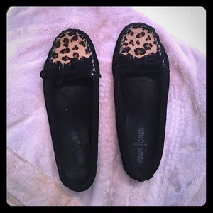 Minnetonka Shoes - Minnetonka Leopard calf hair moccasins
