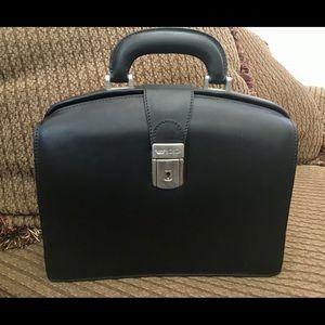 Bosca Handbags - Bosca Vintage Leather Framed Doctor's Bag Handbag