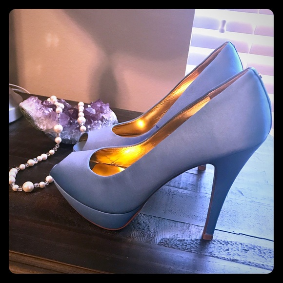 really cheap great deals look good shoes sale Ted Baker Shoes | Cinderella Blue Heels | Poshmark