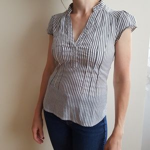 H&M Pinstripe fitted top