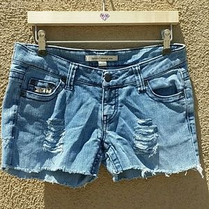 Forever 21 Pants - FOREVER 21 SZ 26 STUDDED & DISTRESSED SOFT SHORTS
