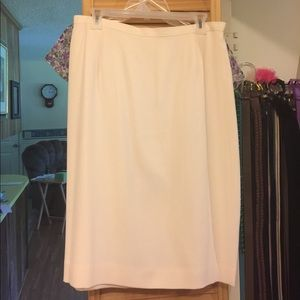 Dresses & Skirts - Cream color silk skirt
