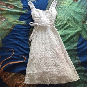Dresses & Skirts - White eyelet cotton sundress