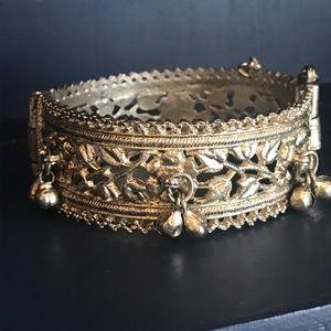 Vintage Jewelry - Vintage Rajasthan East India silver bracelet EUC