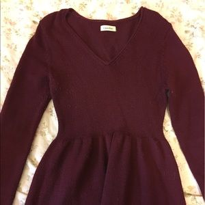 Calvin Klein Dresses & Skirts - burgundy Calvin Klein sweater dress