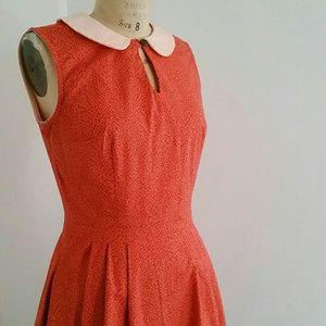 Geek Chic Orange dress with Peter Pan Collar