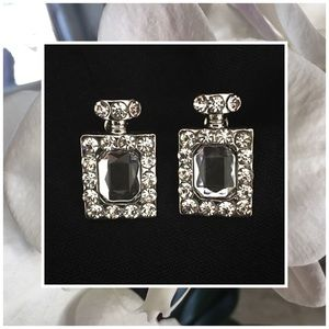 Jewelry - Perfume Bottle Rhinestone Earrings