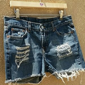 Lucky Brand Pants - LUCKY BRANDHAND STUDDED & DISTRESSED SHORTS SZ 26
