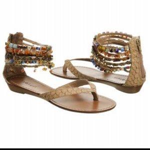 Zigi Soho Shoes - 🇺🇸ZIGI GIRL BOHO CHIC BEADED ANKLE THONG SANDALS