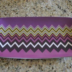 Missoni Zig Zag Platter in violet