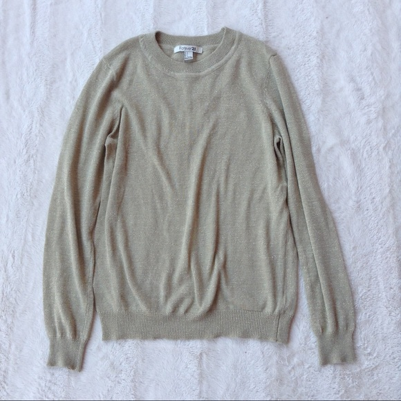Beige Trui Met Glitters.Forever 21 Sweaters Beige Glitter Sweater Poshmark