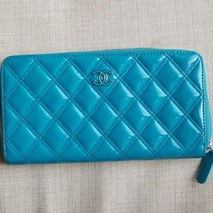 CHANEL Handbags - CHANEL Caviar Quilted Large Gusset Zip Around Wall