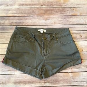 2.1 denim Pants - Green Shorts