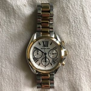 Michael Kors Accessories - MK Two Toned Gold/Silver Watch