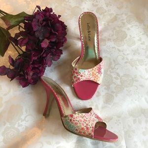 Kelly & Katie Shoes - Floral Kitten Heels