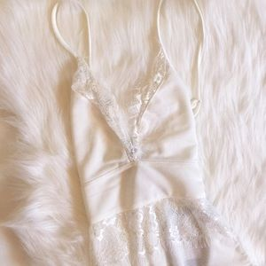 Missguided white sheer lace bodysuit