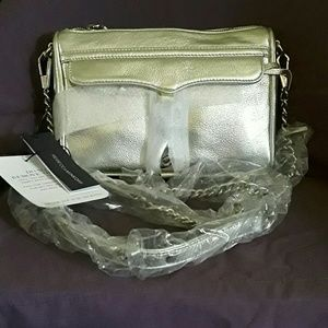Rebecca Minkoff Handbags - Rebecca Minkoff silver Mini Mac new *firm*