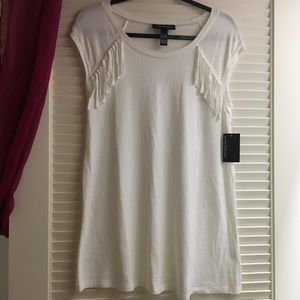 Wendy Bellissimo Tops - SALE Super Soft Fringe Maternity Sweater Tank