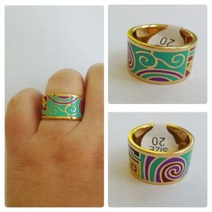 Jewelry - SS RGP Enamel Ring NWT