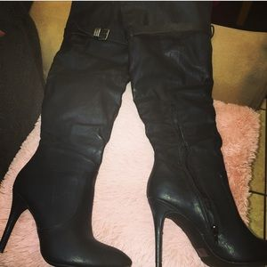 Rue21 Shoes - Woman's black over the knee boot