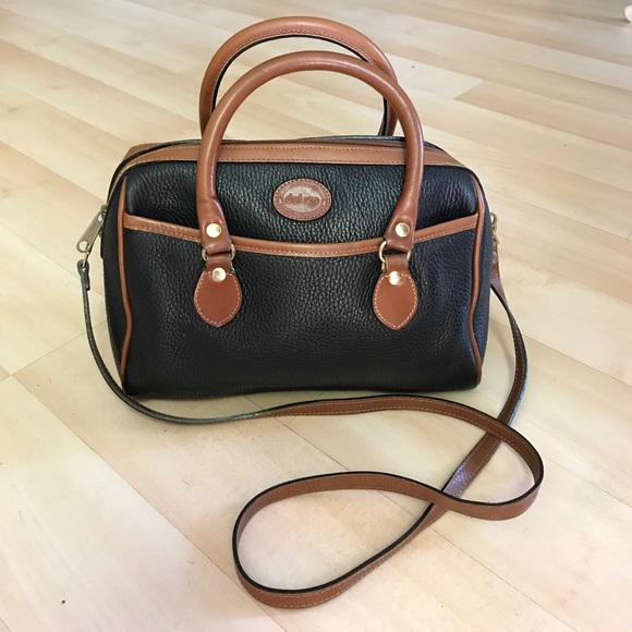 c86183f63 del rio Handbags - Vintage Black/brown Del Rio pebbled leather purse