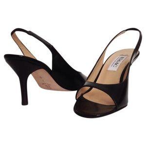 Isaac Mizrahi Shoes - NIB Brown Patent Leather Open Toe Slingback 7